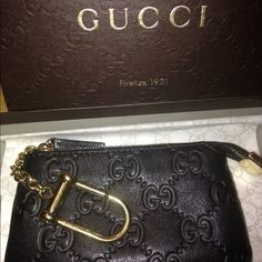 gucci keychain wallet. gucci black logo keychain wallet % authentic i ❤️this wallet. it\u0027s made y