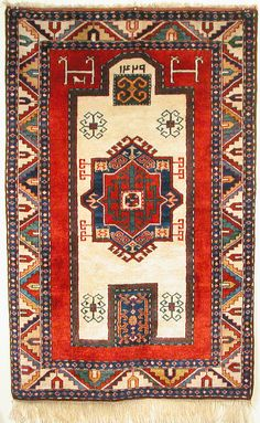 Modern Kazak prayer rug.