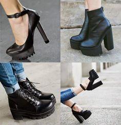 Tendência: Sapato de sola tratorada