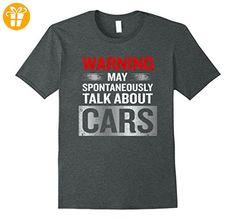 Achtung Kann spontan über Autos reden T-Shirt Herren, Größe XL Dark Heather - Shirts mit spruch (*Partner-Link)