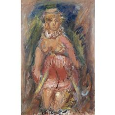 Girl with Hat, George Bouzianis California College Of Arts, Vintage Art, College Art, Image, Painting, Pictures, Abstract, Art History, Art Center