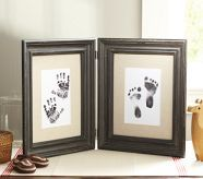 Make one of these for nursery when baby gets here!  Handprint & Footprint Frame