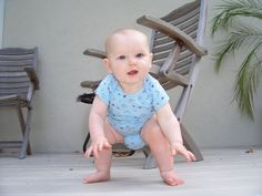 Tips to help teach babies to stand up from the floor.