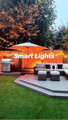 Outdoor Pendant Lighting, Smart Lights, Smart Garden, Small Garden Design, Summer Photography, Outdoor Furniture Sets, Outdoor Decor, Summer Activities, Garden Projects
