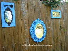My Thrift Store Addiction : Welcome to Secret Garden: My Creative Space! #Garden #Whimsy #MirrorsintheGarden