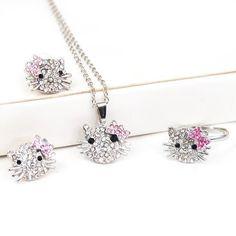 BlueTop(TM) Kitty Rhinestone Crystal Jewelry Set Ring Earrings Necklace 3 in 1 Set BlueTop http://www.amazon.com/dp/B00CWU48OU/ref=cm_sw_r_pi_dp_fiXxub0ABDF3B