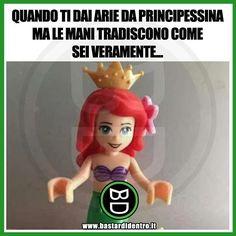 Certe cose si notano dai particolari... #bastardidentro #perfettamentebastardidentro #principessa www.bastardidentro.it