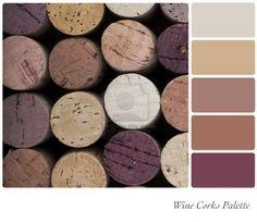 Palette de couleurs vin