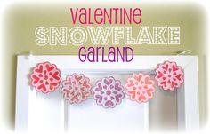 Valentine Snowflake Garland - http://peppermintplum.blogspot.com