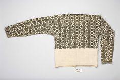 Trøye @ DigitaltMuseum.no Fair Isle Knitting, Hand Knitting, How To Start Knitting, Vintage Knitting, Color Combos, Ravelry, Knitwear, Textiles, Wool