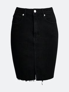 Svart Rachel Lit denim skirt   Dame   Skjørt på BikBok.com Light Denim, Summer Looks, Denim Skirt, Skirts, Fashion, Moda, Summer Fashions, Fashion Styles, Skirt