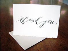letterpressed thank you cards $15 for 5.