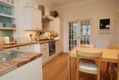 Edwardian House-Second reception room converted to dine-in kitchen