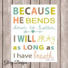 Scripture Printable Scripture Art bible verse by glorydesigns, $5.00