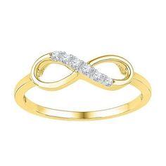 10K Yellow-gold 0.05CTW-Diamond FASHION RING