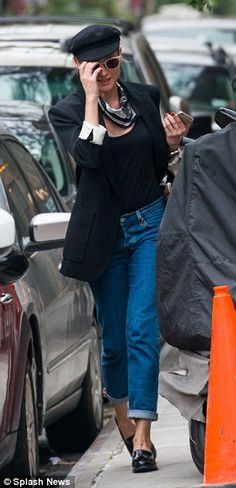 Charity case: Diane Kruger and Joshua Jackson were spotted checking out of their hotel in New York City on Tuesday
