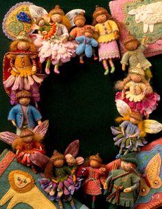 Wood Wire Felt Dolls  Inspiring  Salley Mavor