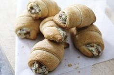 """Bacon Appetizer Crescents recipe - Savory dip meets crescent roll for a whole new take on hot appetizers. These toasty bites will go faster than you can say, """"They have bacon."""""""