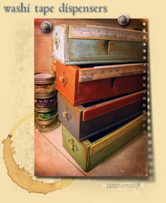 Image detail for -... & Nature - Washi Tape Dispensers With Vintage Sewing Cabinet Drawers