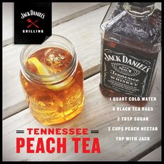 Pour a little Georgia in your Tennessee. #JackDaniels #drinkrecipes #drinks #cocktails #whiskey