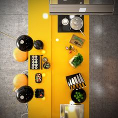 Yellow is a bold design choice, but it's popular in adventurous kitchens for a good reason – it's a cheerful color full of energy and optimism, associated wit
