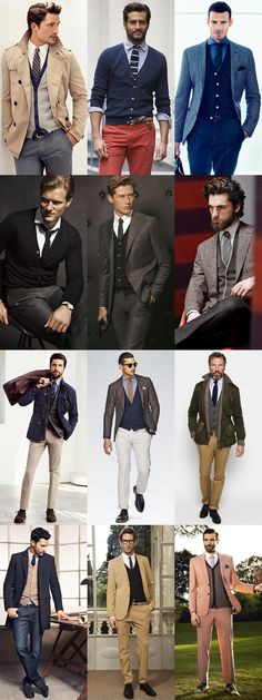 Men's Fine Knit Cardigans - Smart/Professional Outfit Inspiration Lookbook