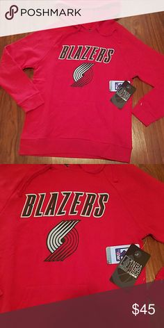 NWT NBA Portland Blazers women's hoodie sz Lg Great gift NBA for her Tops Sweatshirts & Hoodies