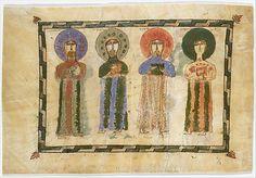 Leaf from a Gospel Book with Four Standing Evangelists Armenian, 1290-1330 Made in lake van region,(now eastern Turkey)