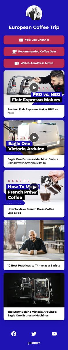 #pinterestinspired #marketingstrategy #youtuber #youtubechannel #newvideo Espresso Maker, French Press, Barista, Youtubers, Landing, The Creator, Channel, Content, Espresso Coffee Machine