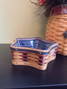 2003 Longaberger Proudly American Little Star Basket