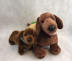 Lot Of 2 Brown Dachshund Plush Build A Bear And Douglas Cuddle Toys Dogs Gift  | eBay
