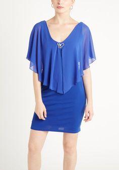 vestidos de madrina cortos con capa - Buscar con Google: