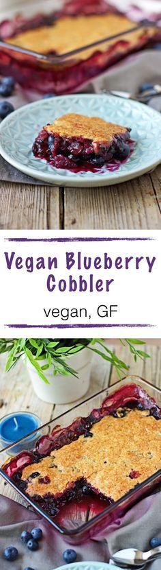 Vegan blueberry cobbler. #glutenfree #GF #recipe