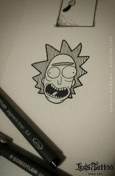 Inspiração de tatuagem do Rick Sanchez. Gostou e quer saber mais sobre a Led's Tattoo? Acesse nosso site ou nos contate em (11) 5561 2351 (unidade de Moema) ou (11) 5093 6686 (unidade Jardins). #tattoo #tatuagem #ledstattoo #pureart #geek #rickandmorty #rick Unique Drawings, Outline Drawings, Cartoon Drawings, Easy Drawings, Pencil Drawings, Graffiti Lettering, Graffiti Art, Tattoo Sketches, Art Sketches