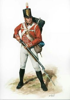 Private of a Battalion Company of the 41st British Regiment of Foot. By Don Troiani