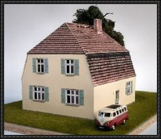1930 German Family House Free Building Paper Model Download