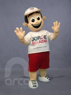 """Botarga de Niño """"Vota PRI"""" para Candidato Jorge Salazar ¡Conoce más botargas de partidos políticos y figuras humanas aquí! http://www.grupoarco.com.mx/venta-de-botargas/botargas-de-figuras-humanas-en-mexico/"""