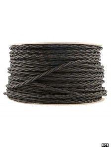 jet black fabric lighting flex cable twist black fabric lighting