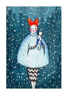 Invierno, nieve - Ilustración Alex T. Smith
