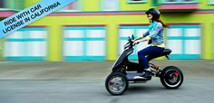 Electric Trike in Motion - Sway Motorsports. It's street legal so it would be an awesome way to commute with in the city!