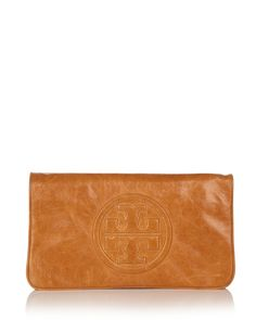 Tory Burch Reva Bombe Leather Clutch. top of my list
