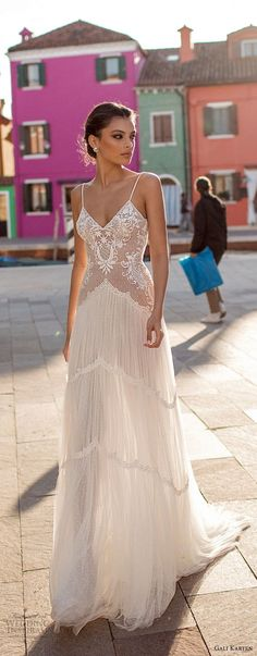 gali karten 2018 bridal spaghetti strap sweetheart neckline heavily embellished bodice romantic soft a line wedding dress open scoop back sweep train (10) lv -- Gali Karten 2018 Wedding Dresses