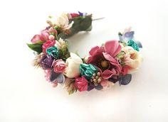Forest Bridal Flower Crown Floral Headband Floral by LisaUaShop