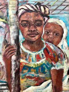 Freue mich, euch diesen Artikel aus meinem Shop bei #etsy vorzustellen: Mother and Child Ölgemälde Unikat 60 x 80 ohne Rahmen