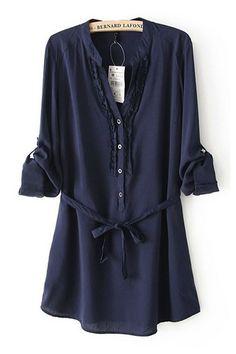 Navy Shirtdress//