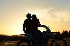 Engagement photo. Dirt bike love :)