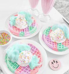 ideas birthday breakfast for him desserts for 2019 Yummy Treats, Sweet Treats, Yummy Food, Delicious Dishes, Kreative Desserts, Unicorn Foods, Rainbow Food, Rainbow Drinks, Rainbow Snacks