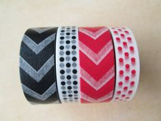 Washi Tape  Four Rolls  Chevron and Polka Dots  by HazalsBazaar, $10.00