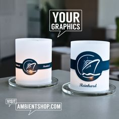 Ambientshop Home and Office Design-Accessoires, individualisierbares interieurdesign - Ambientshop Pint Glass, Designer, Illustrator, Bulb, Photoshop, Tableware, Products, Accessories, Company Logo