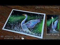 Oil Pastel Art, Oil Pastel Drawings, Oil Pastels, Disney Drawings Sketches, Drawing Sketches, Swan Drawing, Swan Painting, Art Lessons For Kids, Cottage Art